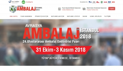 We will be at Eurasia Packaging 2018 which will be held in Istanbul
